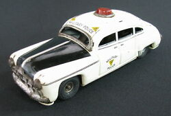 Rare Vintage Tippco Tippandco Tin Toy Car Military Police 1945 Friction Germany