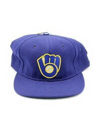 Vintage Milwaukee Brewers Vintage Pro Sports Specialties Fitted Hat Logo 7 3/4