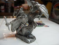 Arthanen Wizard Signed Peter C Sedlow Rawcliffe Pewter Dragon 1989 Made In Usa
