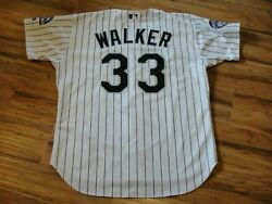 LARRY WALKER GAME USED WORN 2002 COLORADO ROCKIES HOME JERSEY HOF HALL OF FAME