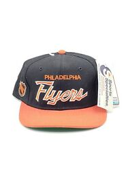 Vintage Nhl Philadelphia Flyers Sports Specialties Script Hat Fitted 7-3/8 Nwt