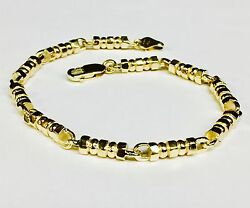 14k Solid Yellow Gold Menand039s Fashion Link Chain/bracelet 8.75 4.5 Mm 26 Grams