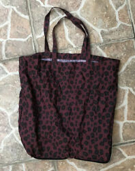 Bimba Y Lola Large Nylon Leopard Tote Shopper Bag In A Zipper Case!! $19.99