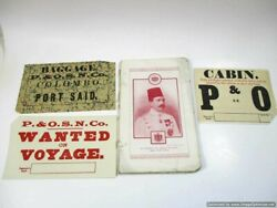 Antique Cairo 1910 Pleasure Trips On The Nile Book And Steamship Luggage Labels