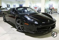 2012 Ferrari 458 Spider 2dr Conv 2012 FERRARI 458 SPIDER CONV 5K MILES CARBON OPTIONS 2 OWNERS CLEAN!
