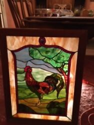 Farmhouse Decor - Stained Glass Panel - 24 X 18