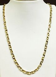 14k Solid Yellow Gold Anchor Mariner Chain/necklace 4 Mm 27 Grams 22