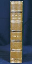 Charles Dickens / The Life And Adventures Of Nicholas Nickleby 1st Edition 1839