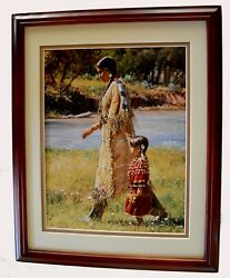 Summer On The Greasy Grass By Martin Grelle Native American 11x14 Framed Matted