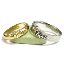 Latest Design Valentine Couple Band Solid 18k Two Tone Gold All Size Available