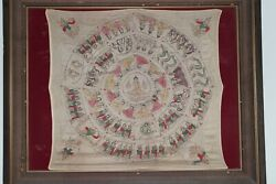 Very Rare Antique Buddhist Mandala Small Buddha Painting Silk from Burma Burmese
