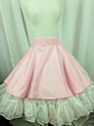 SQUARE DANCE APRON Pink Simple Design Back Hooks Made to wear over your skirt