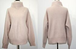 Tahari Pure Luxe 100 Cashmere Mock Neck Sweater Soft Dusty Rose Pink Xs S M
