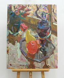 Still Life With A Decanter Oil Painting Impressionism Art And Collectibles