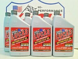 Lucas Oil Motorcycle Oil Synthetic 20w-50 10702  6 Quarts  Made In Usa