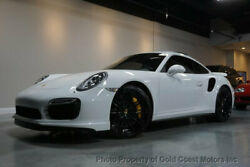2014 Porsche 911 2dr Coupe Turbo S 2014 PORSCHE 911 TURBO-S WHITEBROWN CERAMIC BRAKES PDK NAV BLUETOOTH $194K-MSRP