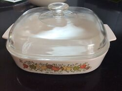 Corningware - Vintage - Spice Of Life - A10 Frying Pan. 25 Cm With Lid - 1500.