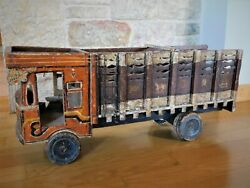 Amazing Antique Vintage Wooden Toy Tata Truck Woodcrafted Handmade Large 23.6