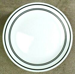 Corelle Classic Cafe Black Dinner Plate 10.25 inch White USA Single
