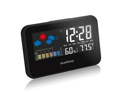 Digital Alarm Clock Thermometer Display with LED Light Temperature Humidity