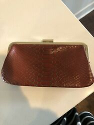 Hobo Red Gold Clutch Bag NWOT 100% Proceeds To Charity $15.00