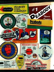 Huge Lot Of 100 Different Peabody Coal Co. Coal Mining Stickers