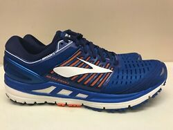 Men's Brooks Transcend 5 D Medium Blue Orange 110276 1D 463