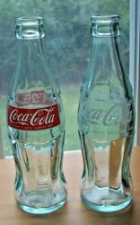 2 Empty Coca-cola Glass Bottles From 1980's Trip To Italy