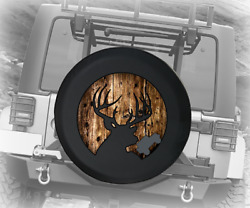 Spare Tire Cover Big Buck Deer Hunting Knotted Wood Print Jk Accessories