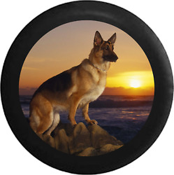 Spare Tire Cover German Sheppard Water Sunset Jk Accessories