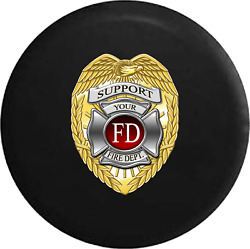 Spare Tire Cover Support Your Local Fire Dept Jk Accessories