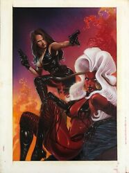 Lady Demon 2 Published Original Cover Art By David Michael Beck