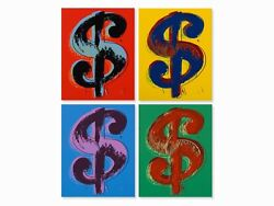 Dollar Sign Suite Sunday B. Morning 4 Limited Edition Silkscreens Andy Warhol