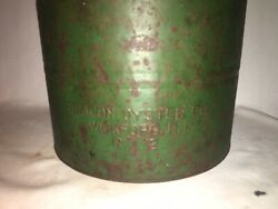 Beacon Oyster Co 3.5 Gallon Can Vintage Antique Rhode Island Wickford Embossed