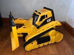 1995 Toy State Industrial Cat Front Loader Bulldozer Tractor Lights And Sounds