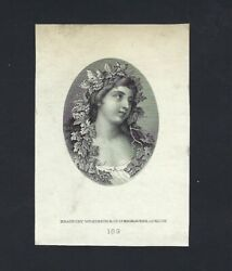 Argentina Vignette Proof Woman Heads Used On 50 Pesos 18 Ps1643