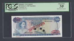 Bahamas 100 Dollars L1965 P25s Specimen Tdlr N10 About Uncirculated
