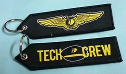 Malaysia Airlines Tech Crew Embroidery Cloth Keychain Luggage Tag Aviation