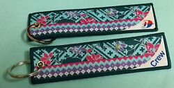 Malaysia Airlines Crew Embroidery Cloth Keychain Luggage Tag Aviation Airline