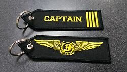 Malaysia Airlines Captain Keyholder Keychain Blue Fabric Limited Edition New