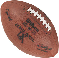 Super Bowl Ix 9 Authentic Wilson Nfl Game Football - Pittsburgh Steelers