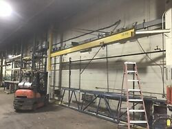 Jib Crane 1/2 Ton Foor To Ceiling 24andrsquo Span Overhead Cranes Up To 15 Ton Also