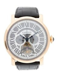CARTIER Rotonde De Cartier Tourbillon Watch 18K Rose Gold Size 6.75
