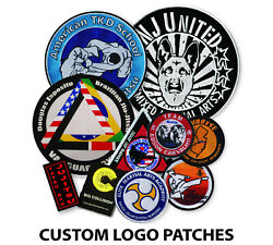 Custom Patches, Personalized Logo Embroidered Patch Iron-on, 20 To 1000 Pcs