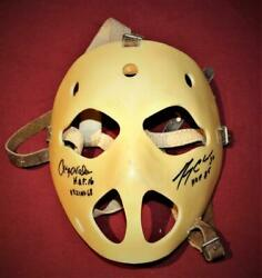Vintage 1960's Winnwell Wellinger Dunn Goalie Mask Signed By 2 Vachon Cheevers