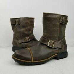 UGG Rockville II Brown Leather Distressed Fur Lined Pull On Boots US 13 3040 $101.24