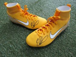 Blake Wallace Hand Signed Nike Boots - Leigh Centurions Rugby League Autograph