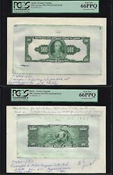 Brazil Face And Back 500 Cruzeiros Nd1961-62 P172 Essay Proof Uncirculated