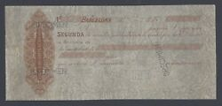 Spain - Specimen Of A Cheque Belonging To The Vidal -quadras Brothers 1800