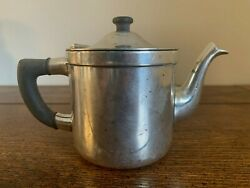 Vintage Benedict Indestructo Made In Usa Silver Creamer Teapot